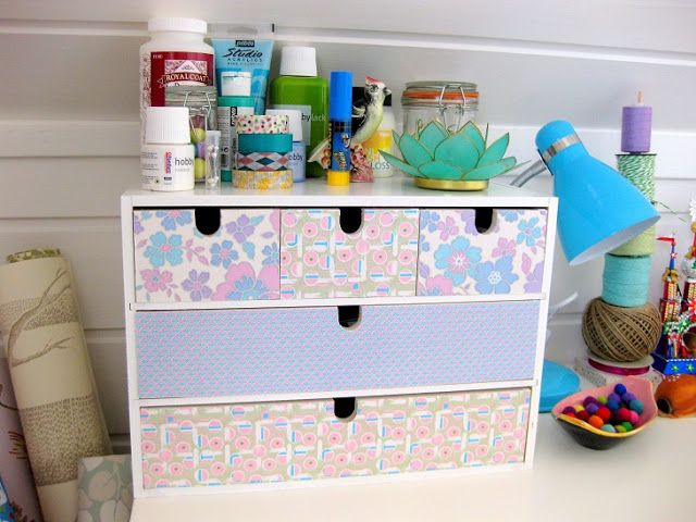 Stina Ballerina:  I have a set of drawers like these and was wondering what to do with it...now I know!