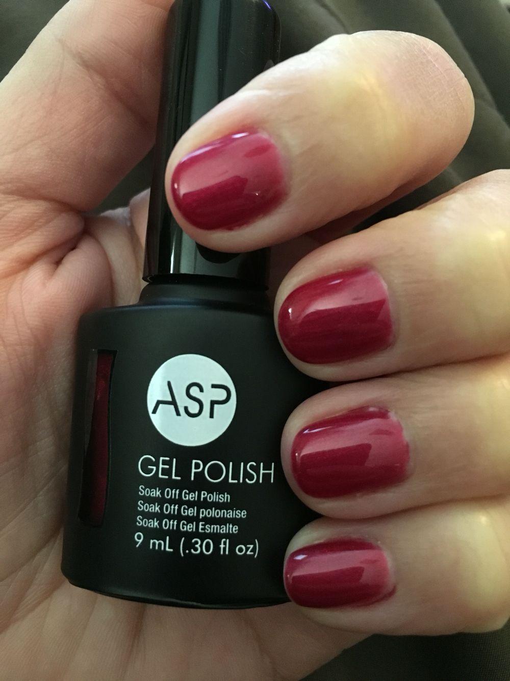 ASP Gel Polish Brooding in Burgundy | Nails | Pinterest