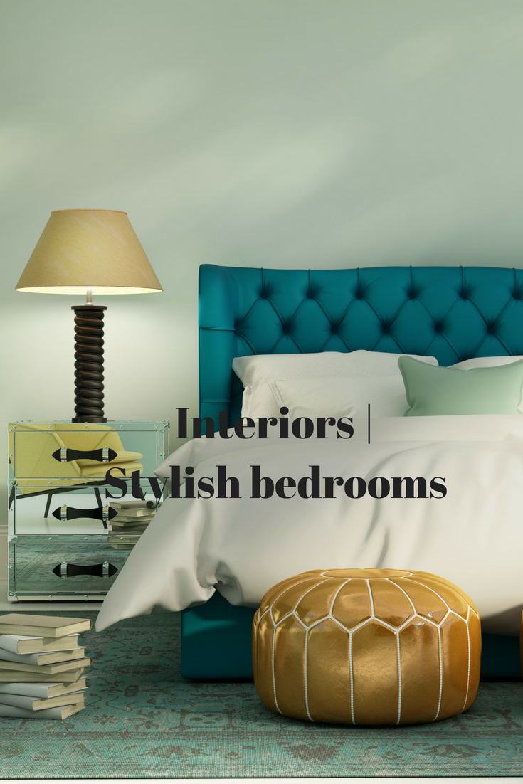 Absolutely adore this bedroom - from the teal headboard to ...