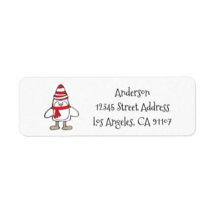simple penguin return address labels return address