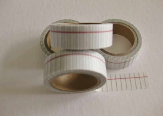 Washi Tape  Notebook Paper by GardeningGalAtWork on Etsy, $3.25
