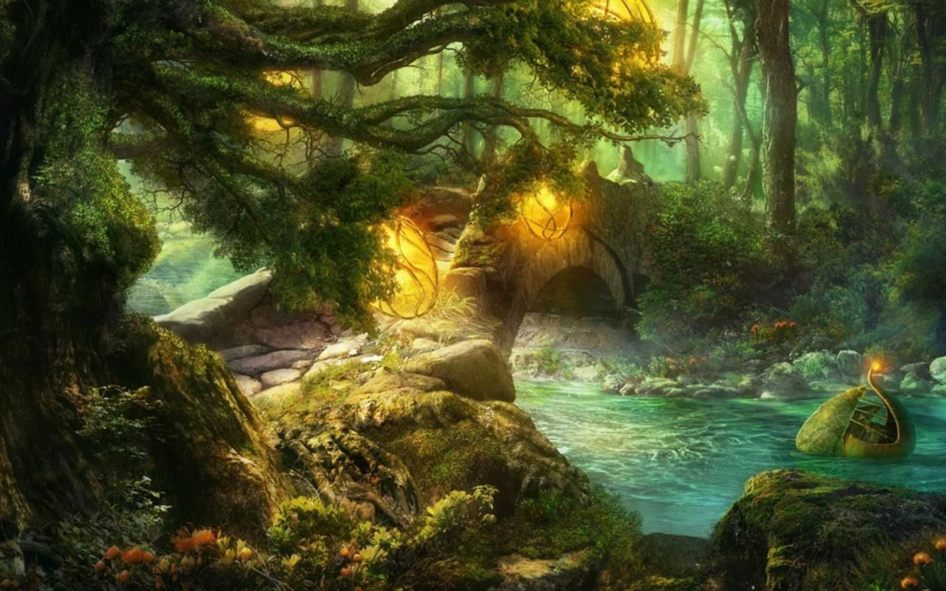 Wallpapers Of Fairytales Fairy Tales Forest Wallpaper Garden Backdrops