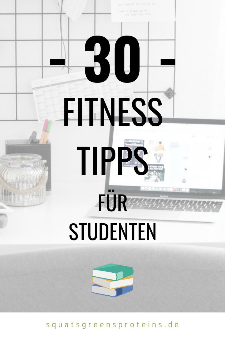 Fit und gesund als Student – 30 Ernährungs- und Trainingstipps für Studenten