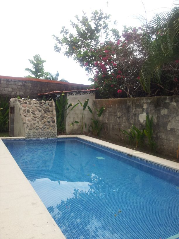 Extended view of swimming pool in Jaco, Inside the beach house at Jaco for rent or for our Fratenity meetings, all like minded, busy people willing to pay a membership for getting mentor's help to make more money with our extra time