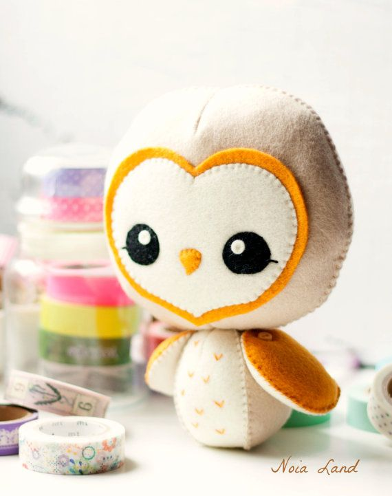 PDF. Barn owl. Softie Pattern, Soft felt Toy Pattern | Pinterest ...