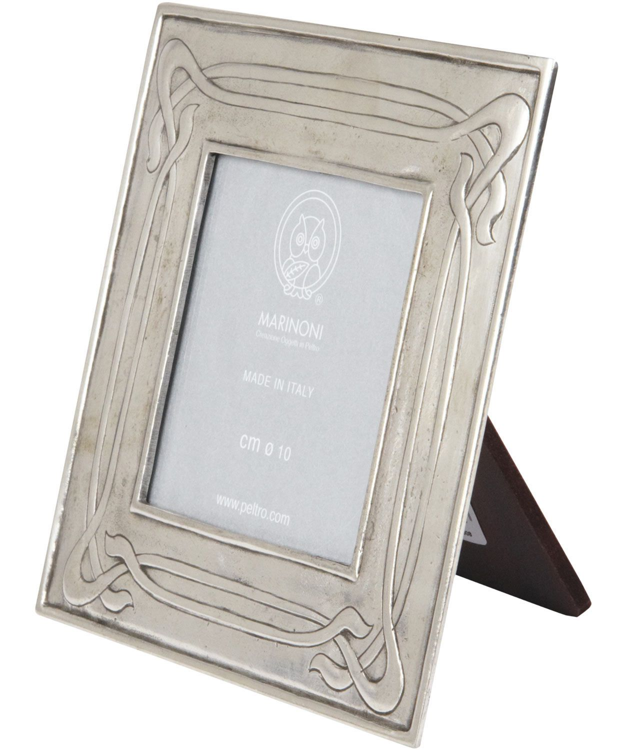 art nouveau pewter frame make it yourself using plain wooden frame