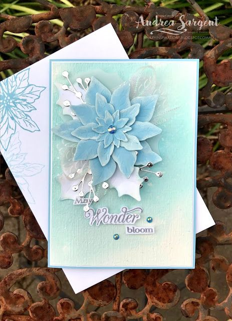 Poinsettias For Christmas 2020 Poinsettia Petals Stampin Up card, Andrea Sargent, Independent