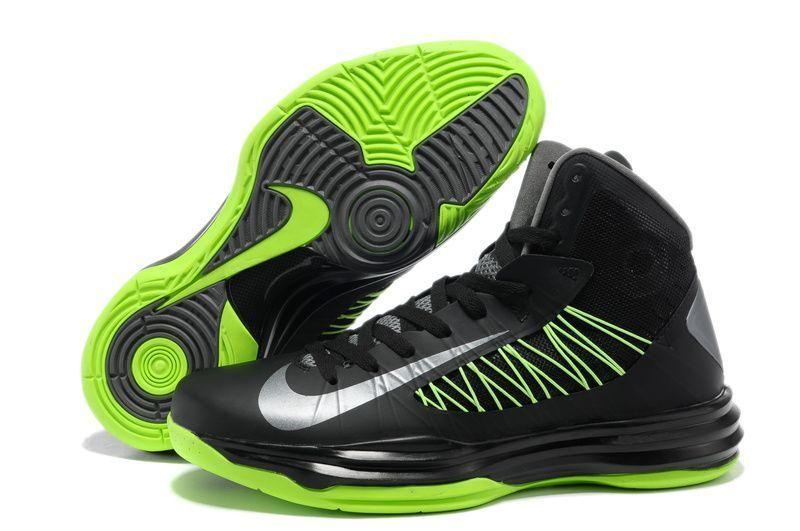 Nike Lunar Hyperdunk 2013 Men's Basketball Shoes Black Gorge Green