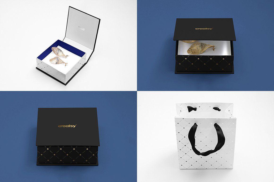 Download Jewelry Box Mockup Set Box Mockup Creative Market Box Template