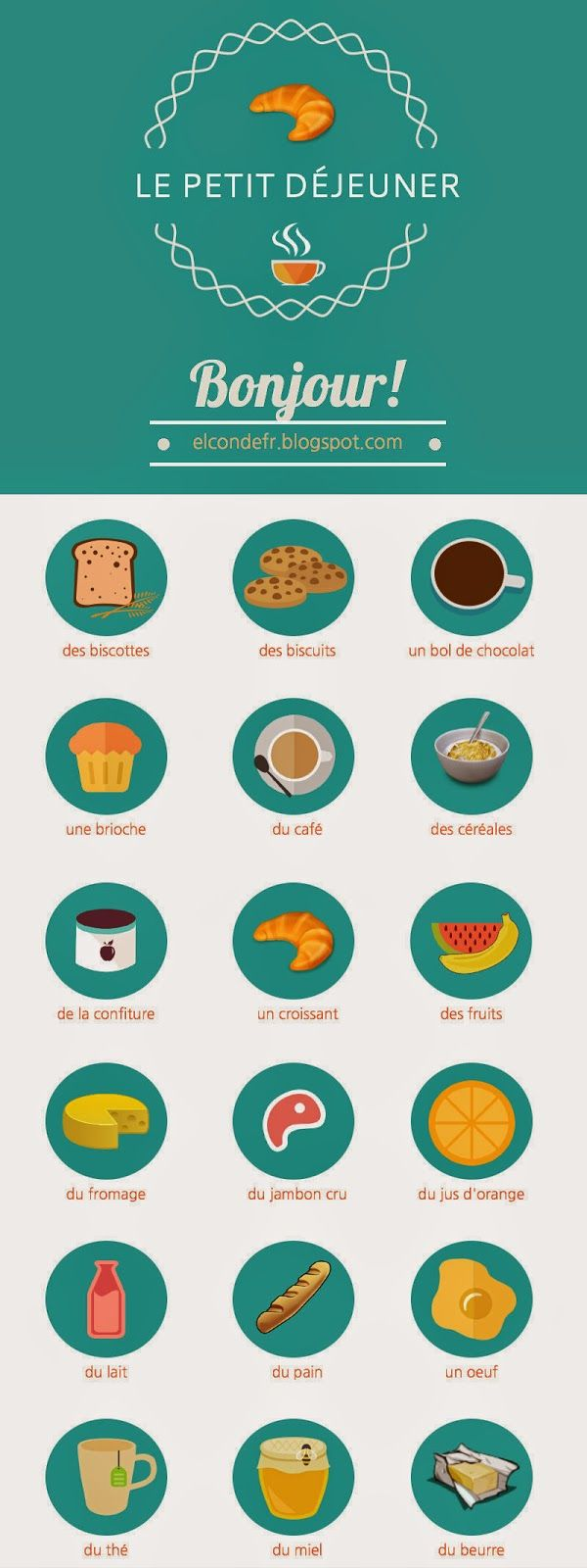 50 beautiful french words infographic and audio http