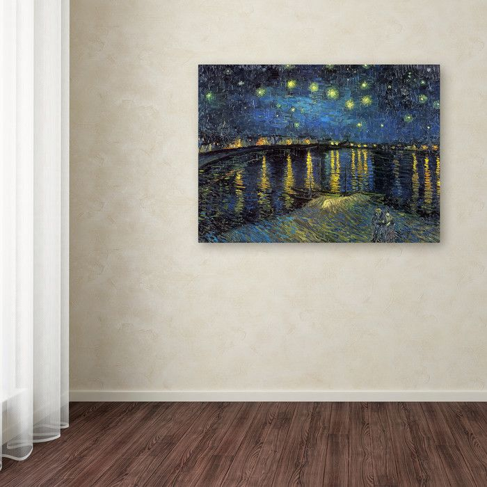 Alcott Hill Starry Night by Vincent Van Gogh Painting Print on Canvas & Reviews | Wayfair