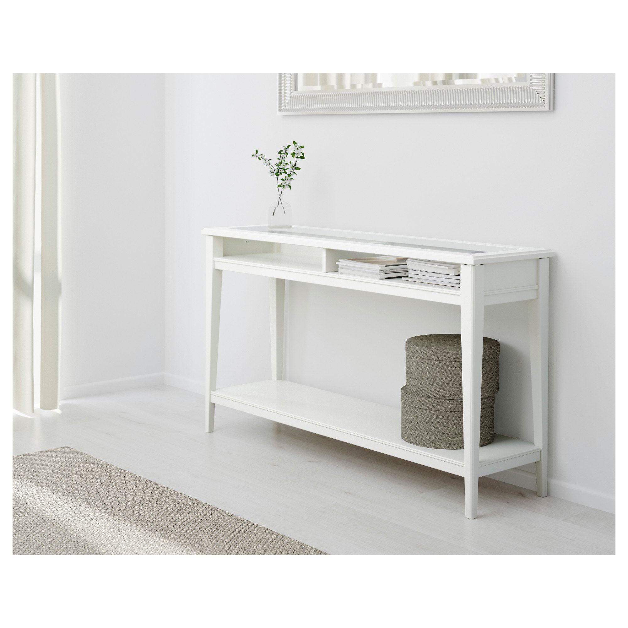 Liatorp Console Table White Glass 52 3 8x14 5 8 Ikea Ikea