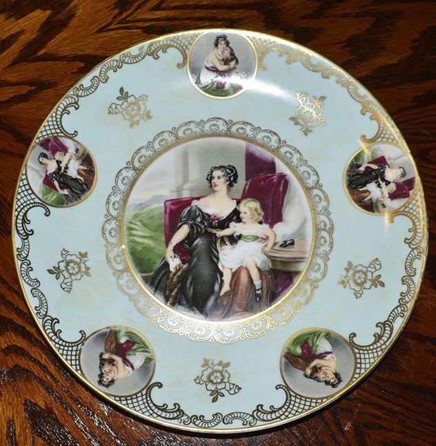 Beautiful Antique Mitterteich Portrait Cameo Collector Plate Bavaria German #2 #Gilt #MitterteichBavaria