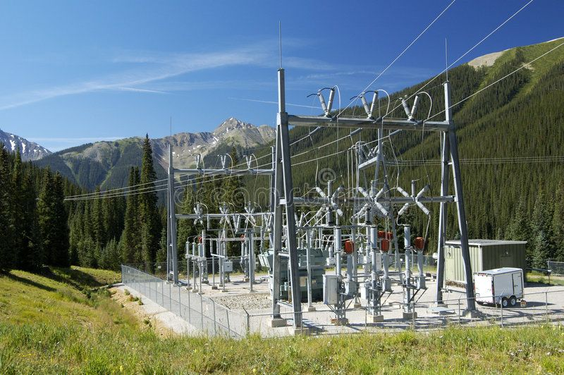 Power Substation Electrical Power Substation In A Power Grid Aff Substation Power Electrical Grid Power Power Grid Electricity Power Engineering