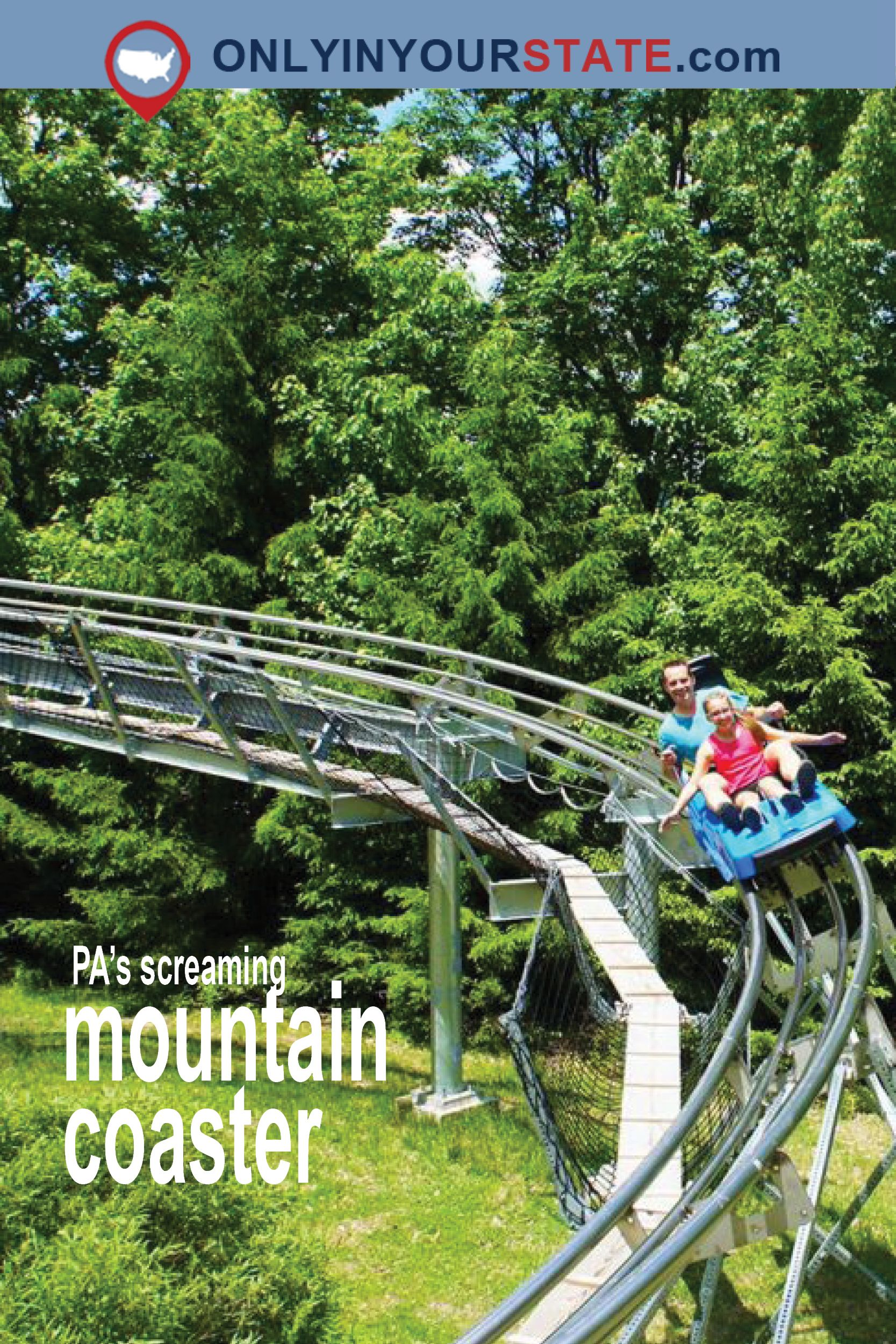 the mountain coaster in pennsylvania that will take you on a ride of