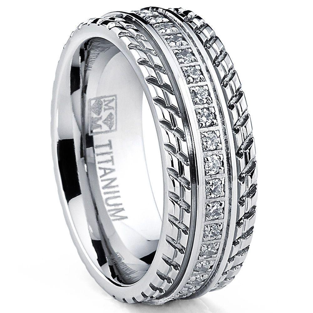 MENS OR WOMENS eternity T TITANIUM LCS. DIAMOND WEDDING