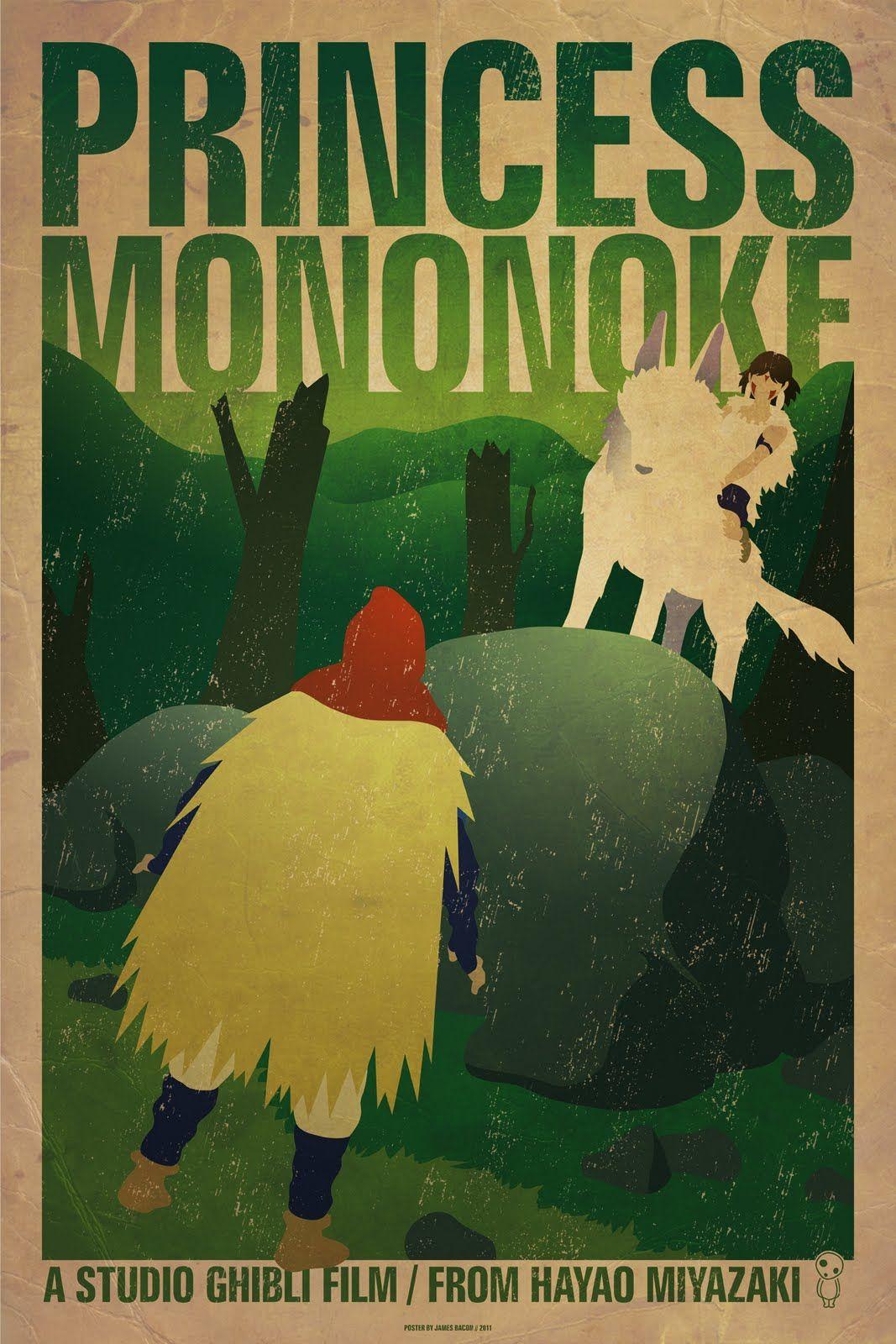 James Bacon Graphic Design: Princess Mononoke Poster