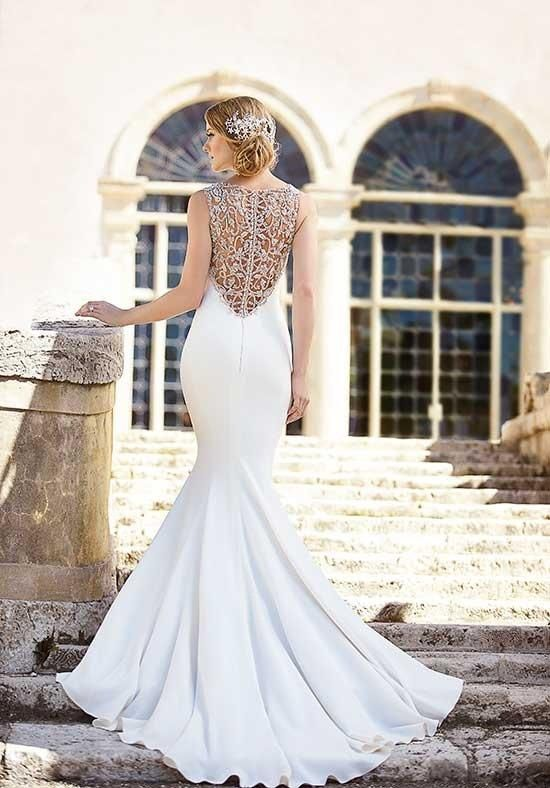 Hand-embroidered fit-and-flare bridal gown | Martina Liana | https://www.theknot.com/fashion/728-martina-liana-wedding-dress