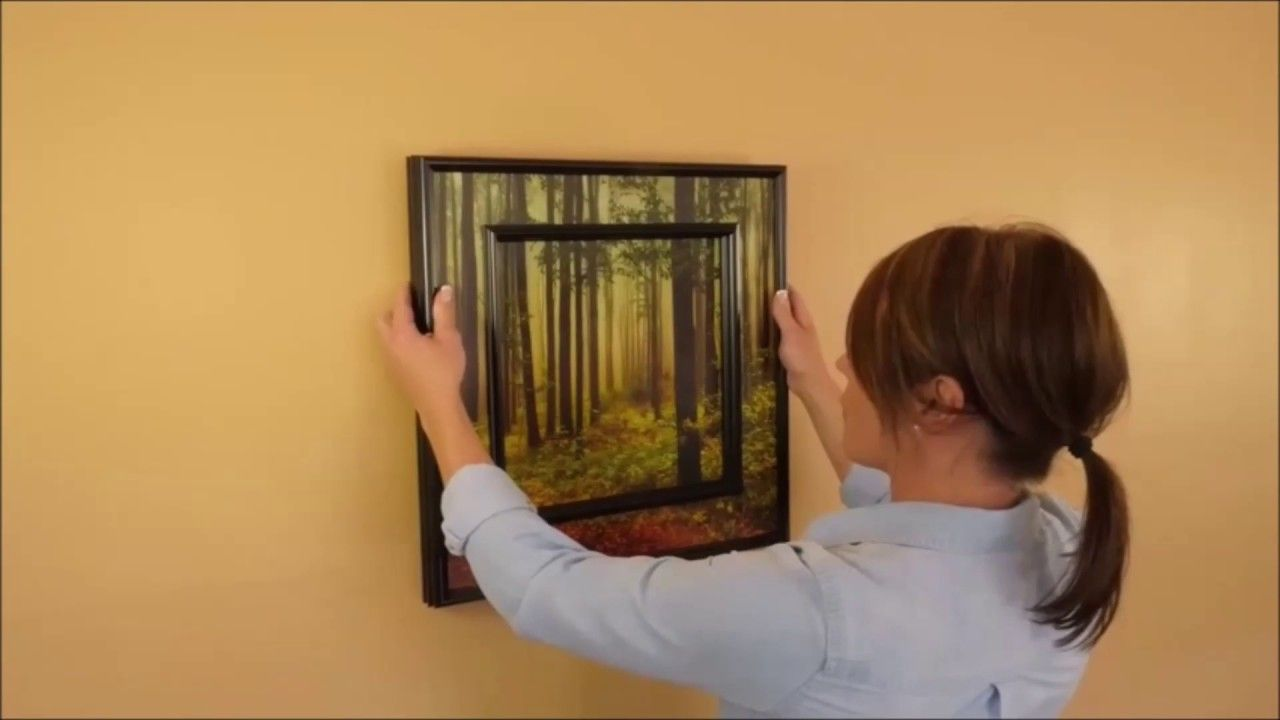 How To Hang A Picture Frame Level Amp Straight On The Wall
