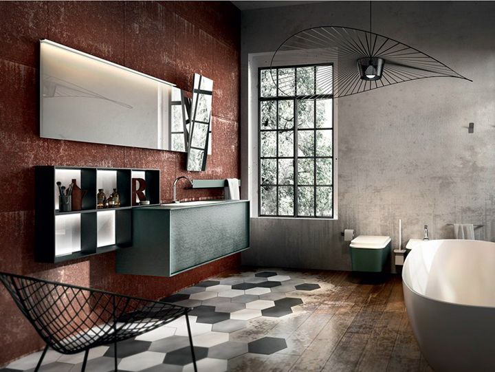 We love the industrial look and it can fit with any interior style check out our other boards - Agora mobili bagno ...
