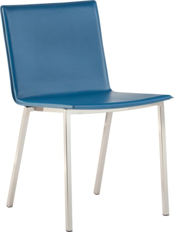 Love This In Blue   Phoenix Swoon Chair In Dining Chairs, Barstools | CB2