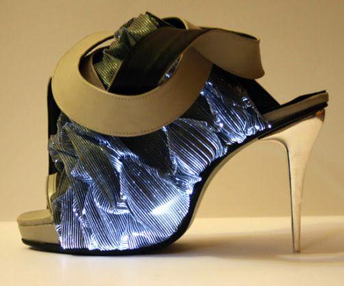 LED light shoes.