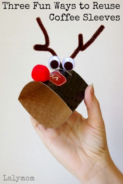 Christmas Themed fine Motor Activities that Reuse Coffee Sleeves Fun crafts the kids will love Practice fine motor skills and have holiday fun with these creative crafts...