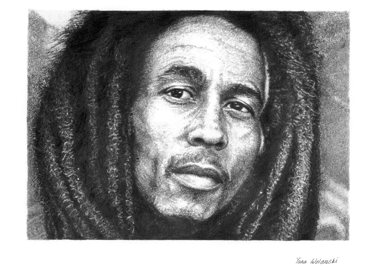 Bob marley pencil portrait celebrity drawings ii pencil