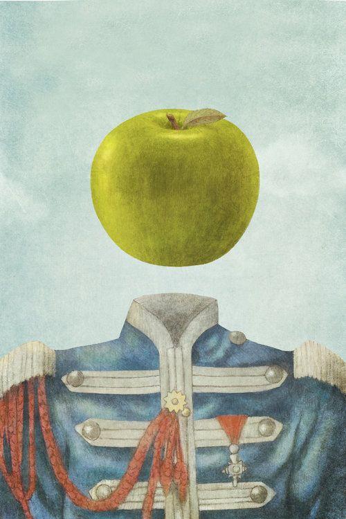Sgt. Apple Canvas Art Print by Terry Fan | Terry fan and Walls