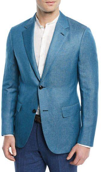 9c3d1004f Ermenegildo Zegna Textured Cashmere-Linen Blazer | Linens | Linen ...