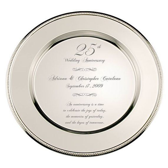 Personalized 25th Anniversary Silver Wedding Platter Engraved Etsy In 2020 25 Wedding Anniversary Gifts 25th Wedding Anniversary Silver 25th Wedding Anniversary