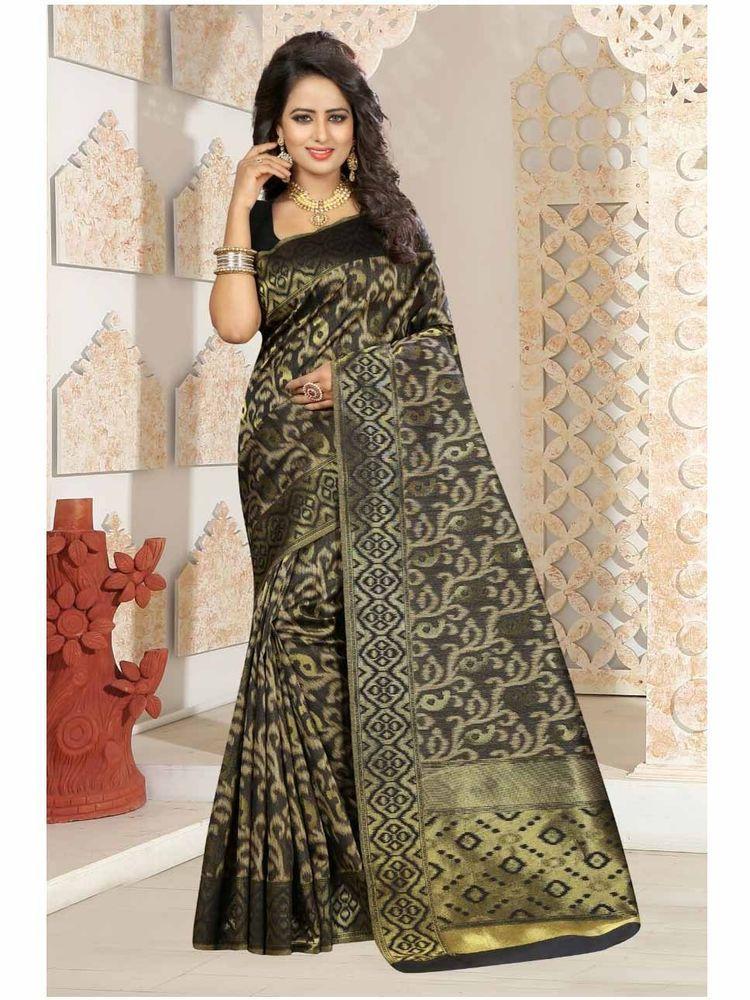 21ef777bfc Bollywood Designer Embellished Kanjivaram Art Silk Mustard Saree With Blouse  #shoppingover #PartyWear South Indian