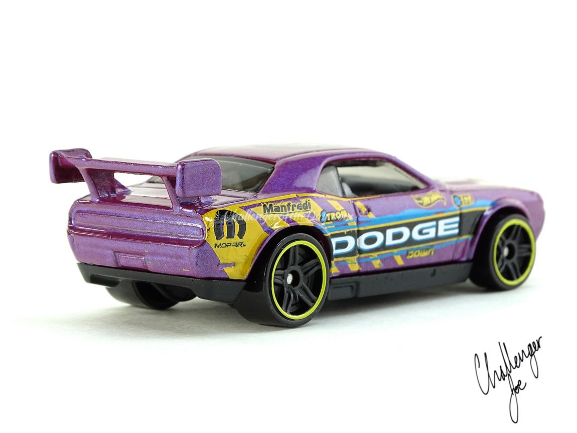 Passenger Side View Hot Wheels Dodge Challenger Drift Car Pearl