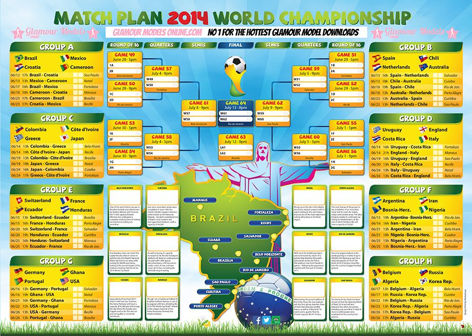 Free World Cup 2014 Wall Chart World Cup 2014 World Cup Brazil World Cup