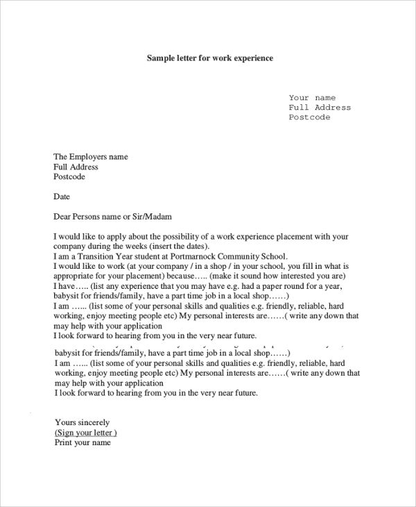 letter employment sample experience letters examples pdf swot - letter of recommendation for a friend