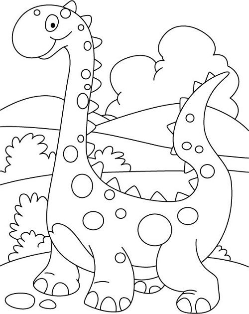 dinosaur coloring pages for preschoolers 01 - Preschool Coloring Book