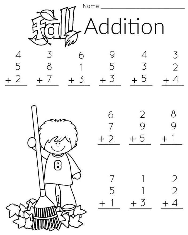 Kindergarten Worksheets Math Addition In 2020 First Grade Math Worksheets Math Addition Worksheets Free Printable Math Worksheets [ 1000 x 800 Pixel ]
