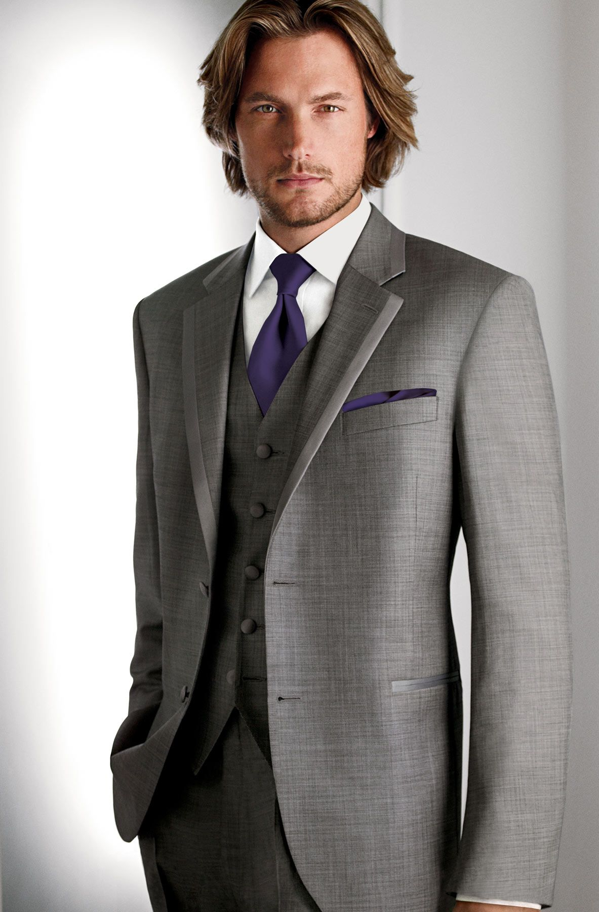 Wide Range Of For Sale Pocket Square - Thin white stripes lined with grey on champagne Notch Cheapest Online ZAJmEmE