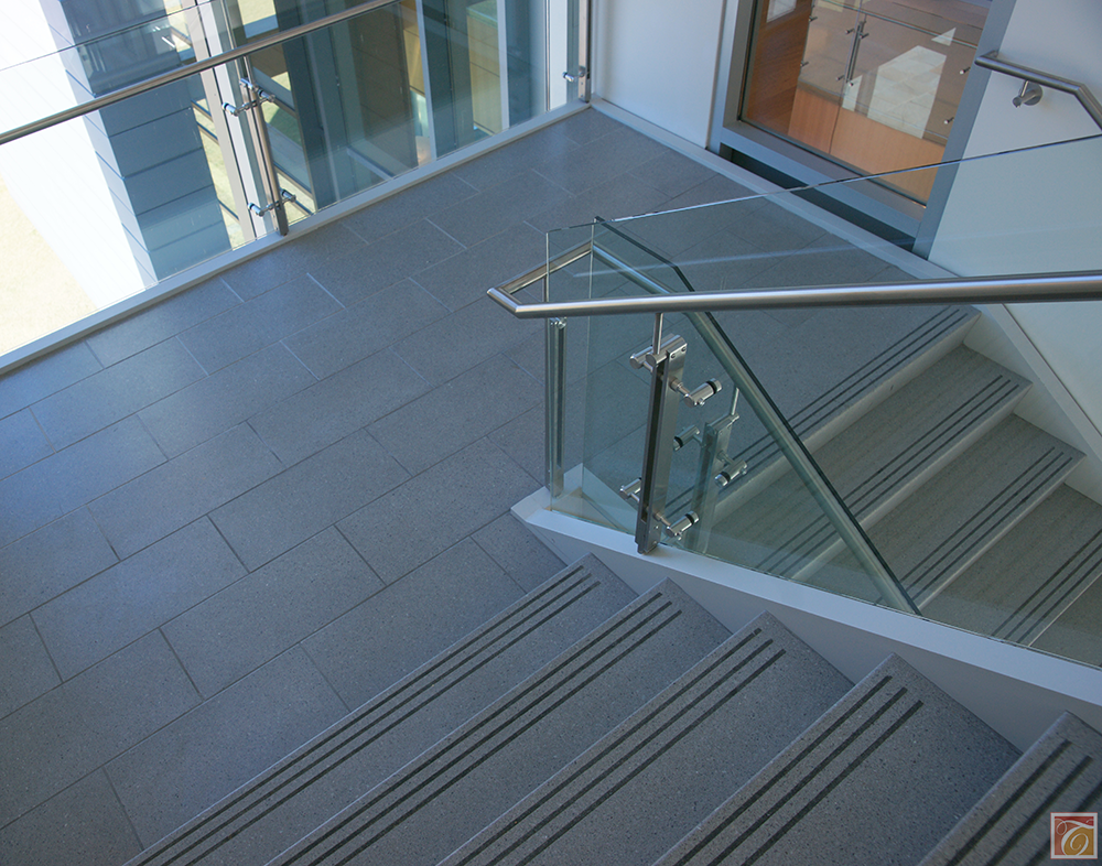 Nice Precast Terrazzo Tiles On The Landing Area Of This Staircase. Tread And  Riseru2026