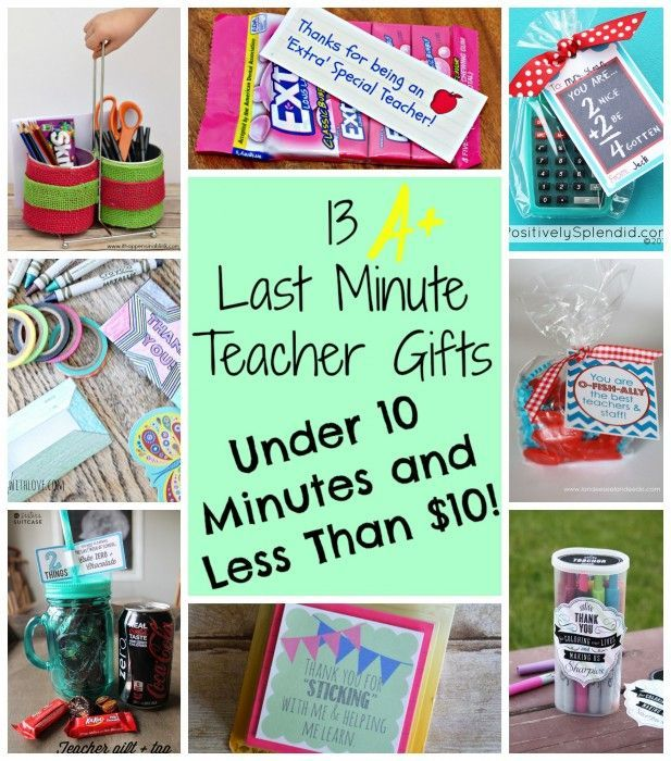 13 last minute diy teacher gifts round up  clever pink