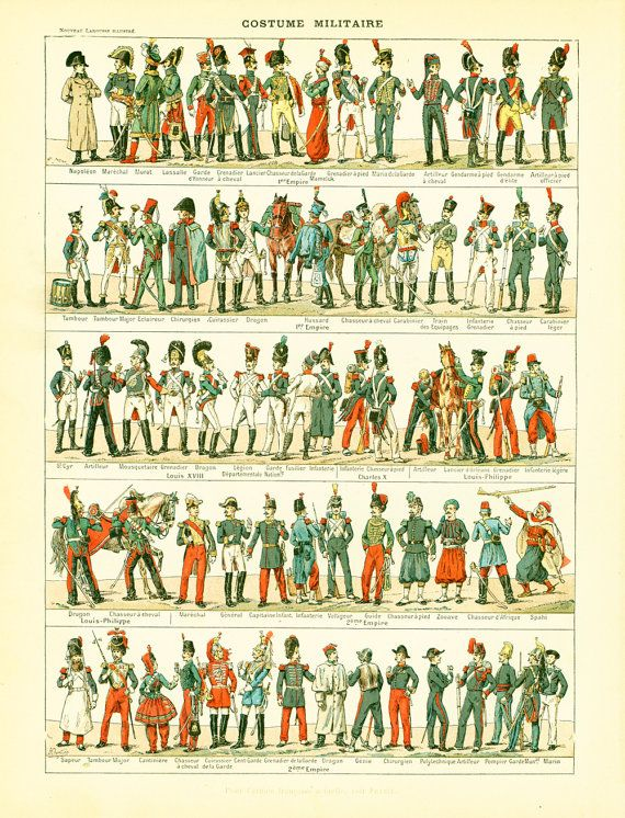 1897 Costume Military Uniform Solrs