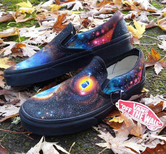 c1f616f9f0 Galaxy Vans Slip-On custom made to order astronomy Galaxy Vans