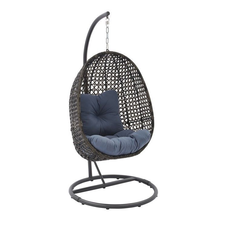 patio hanging egg chair corner ikea outdoor garden wicker swing furniture with stand cushion outdoorfurniturecollection