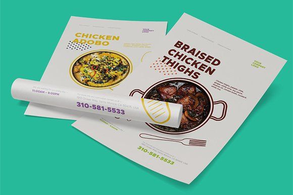 dishes promo poster templates creativework247 templates