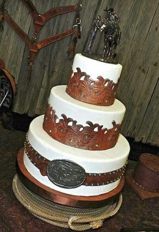 Cowboy Wedding Cakes Western Ideas Cow Weddings Country