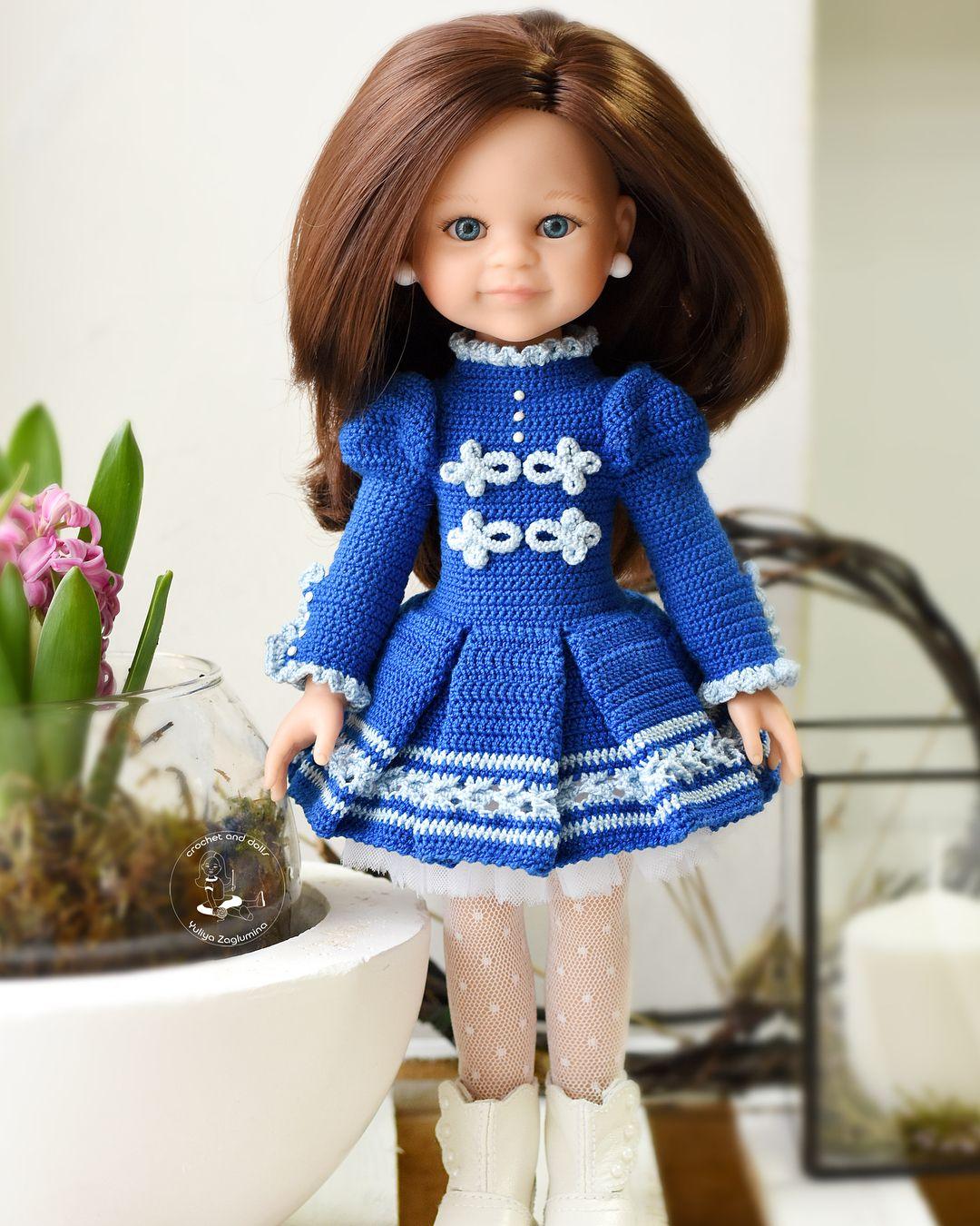 вязанная одежда для куклы картинки