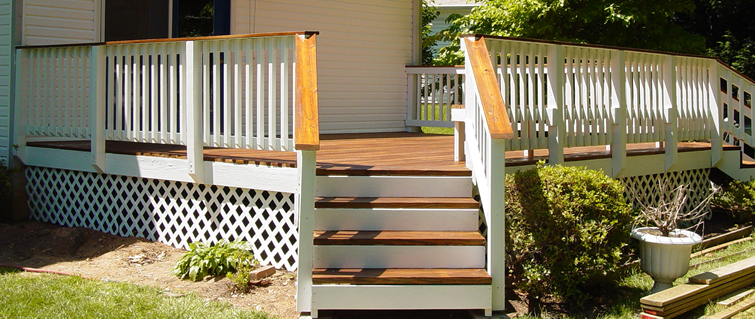 Stained And White Painted Deck Would You Like A Two Tone Deck