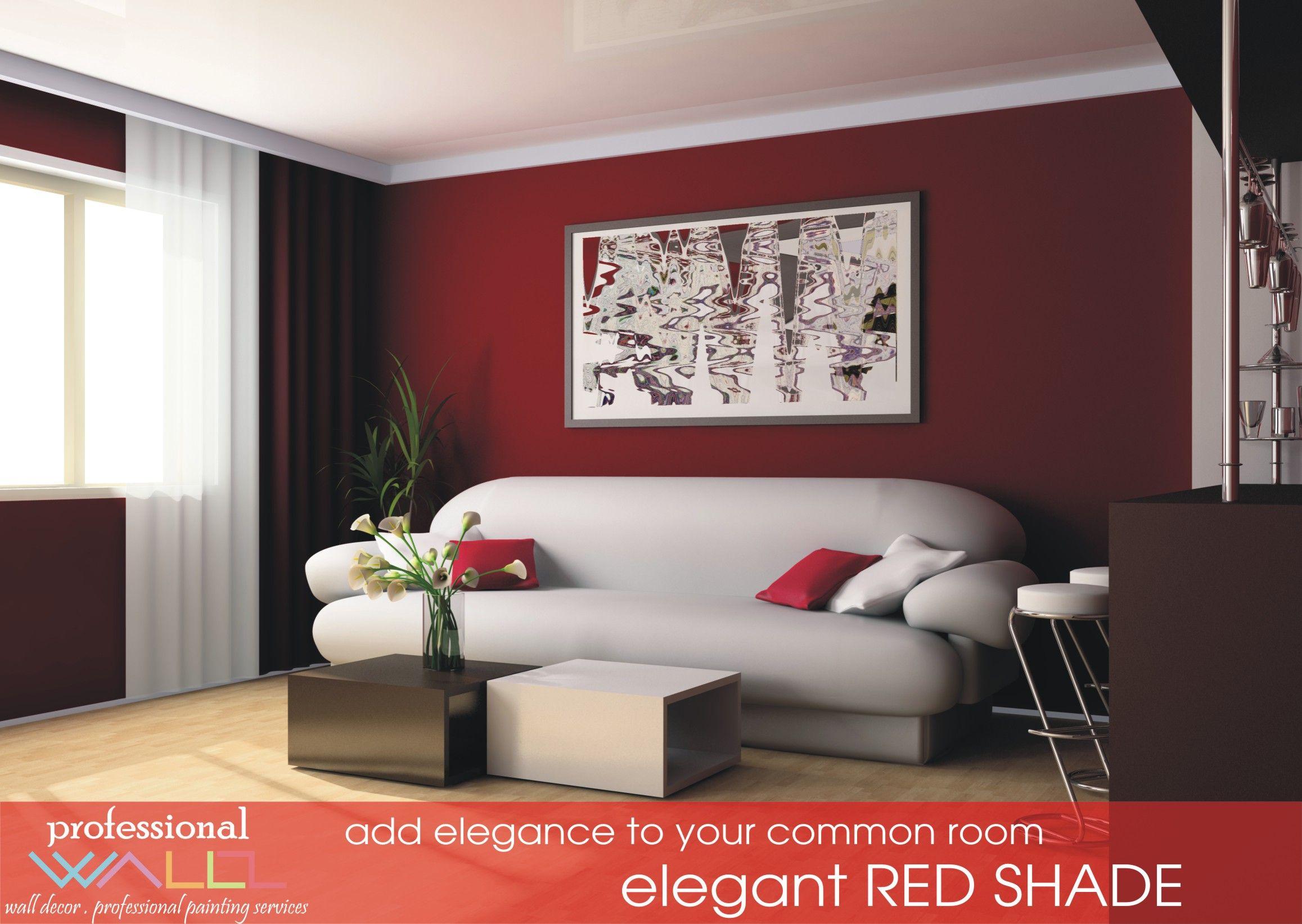 Red shade adds elegance to walls professional wallz - Pintura y decoracion de casas ...