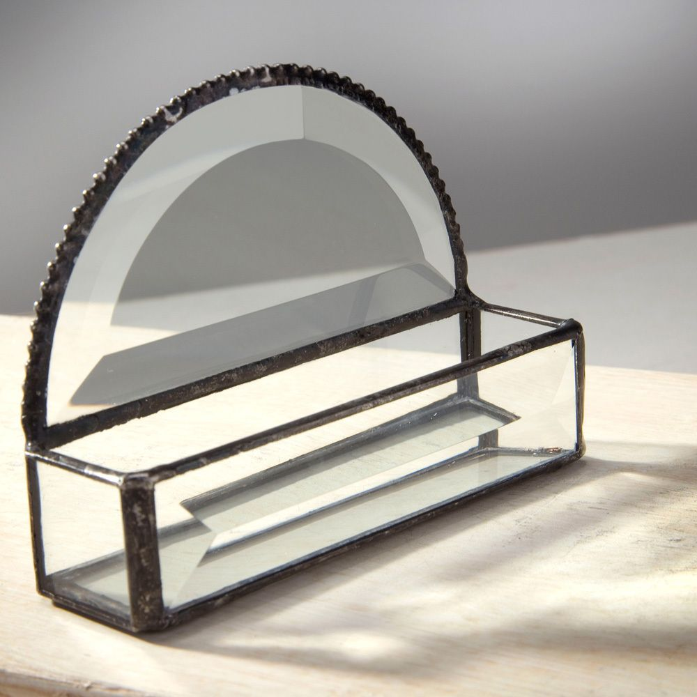 If your dad has an office job, this glass business card holder ...