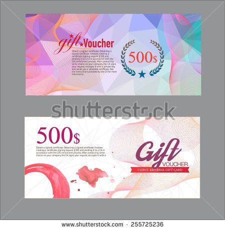 Voucher template with premium vintage pattern vector - stock - create a voucher template
